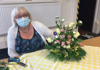Wistaston Flower Club photo 4 when they opened their doors after lockdown for Flowers and Chat