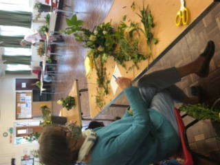 Wistaston Flower Club photo 1 when they opened their doors after lockdown for Flowers and Chat