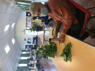 Wistaston Flower Club photo 2 when they opened their doors after lockdown for Flowers and Chat